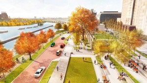 A rendering of the Water Works site at Mill Ruins Park. Submitted rendering.