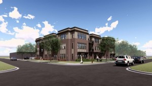 A rendering of Ewing Place Apartments, which recently broke ground at 51st & Ewing in Fulton.  Submitted image.