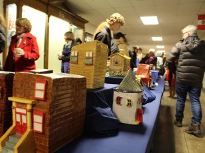 Dozens of Washburn High School students displayed pieces of art in a show at the school on Monday. Photo by Nate Gotlieb