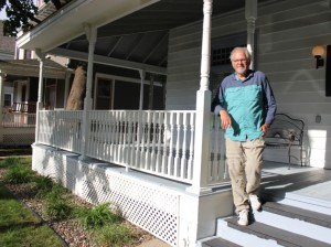 Uptown Locavore founder Will Winter pictured at the 3137 Hennepin Ave. drop site the city closed down in May. File photo