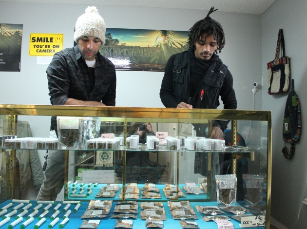 419 Hemp sales associates Shawn Kretz (l) and Santino Kretz at 722 W. Lake St.