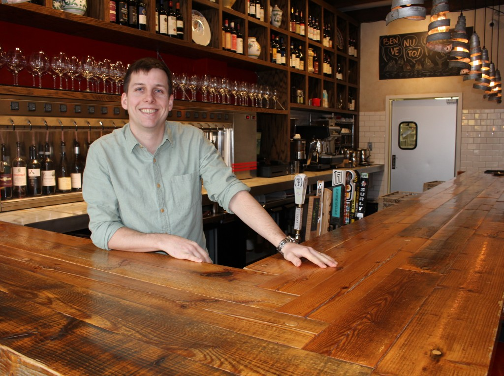 Terzo co-owner Charlie Broder said the upgraded liquor license would help the wine bar compete with nearby restaurants that serve cocktails, such as Tinto Kitchen and Martina. Photo by Nate Gotlieb