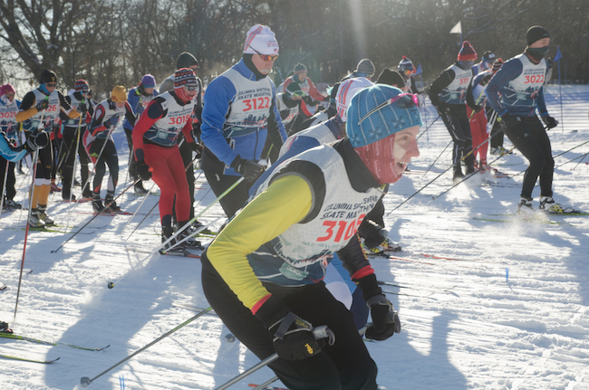 Ski marathoners. Photo by Daniel Johnson