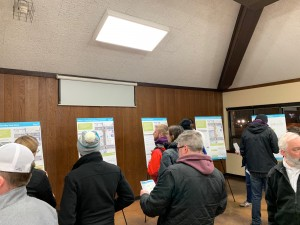 Residents review options for a new design of Girard Avenue between Lake and Lagoon in Uptown, which will be reconstructed next year. Photo by Andrew Hazzard.