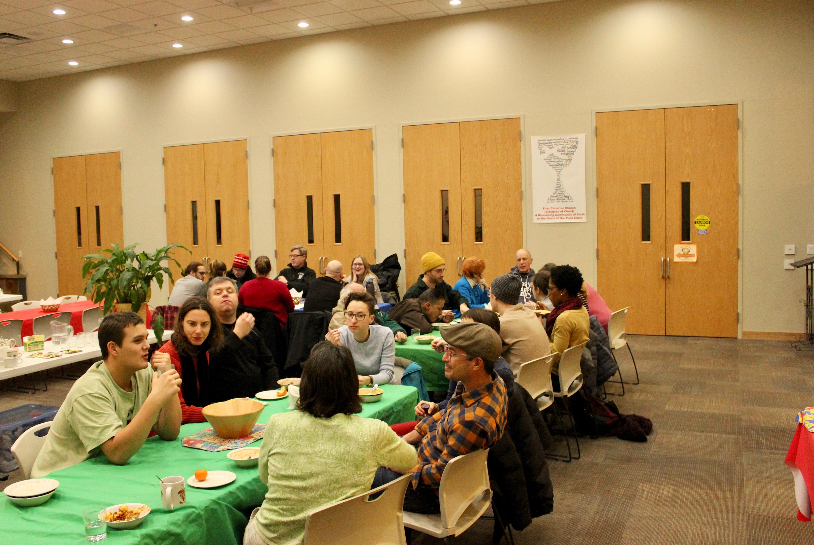 Lowry Hill East residents gathered for a Wedge Community Meal at SpringHouse Ministry Center on Jan. 8. Photo by Andrew Hazzard.