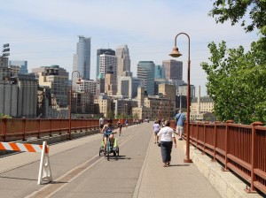 The Stone Arch Bridge needs repair work to address cracking mortar, concrete and stone masonry. File photo