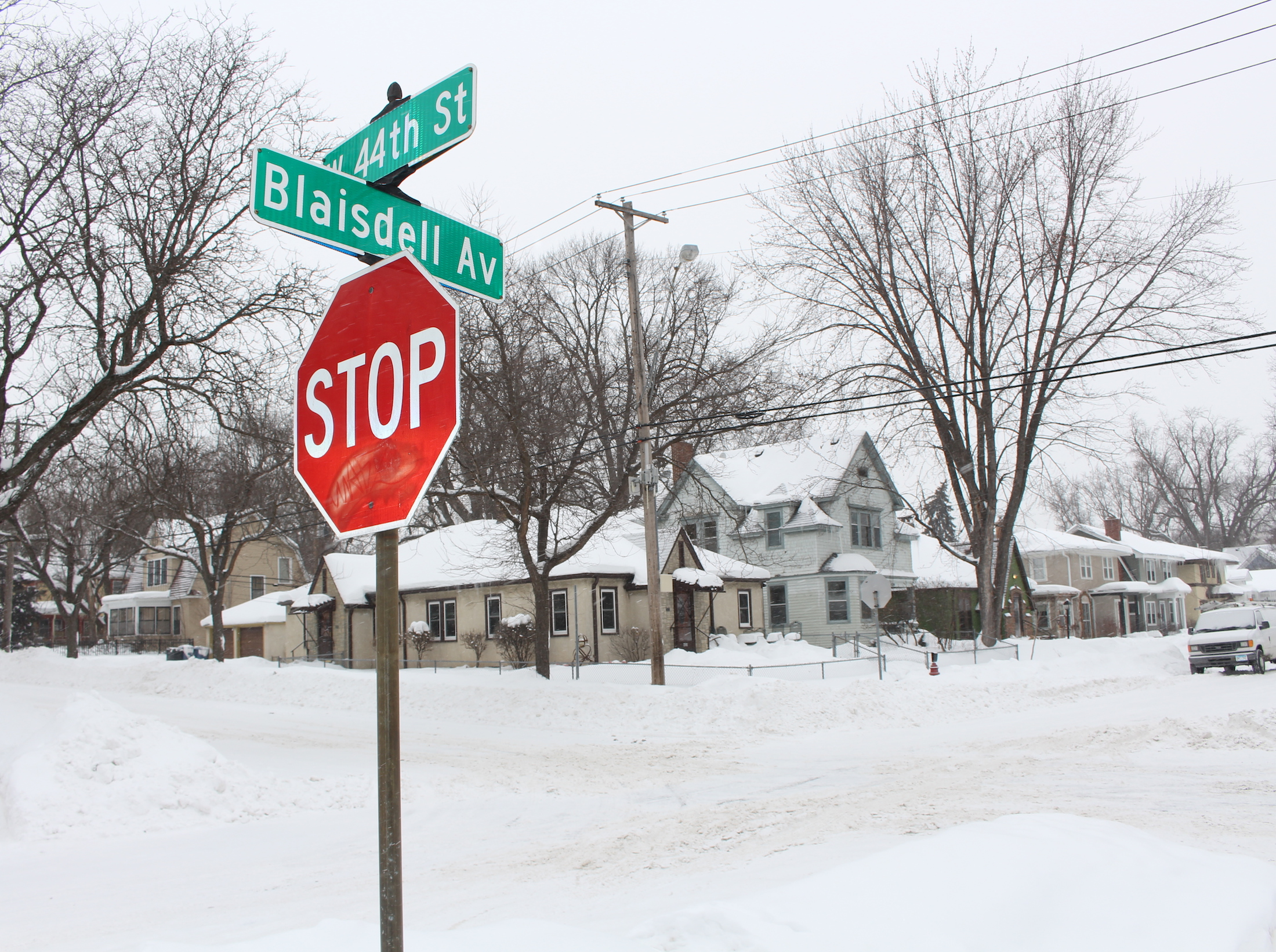Two streets that will be part of the Kingfield resurfacing work include 44th Street and Blaisdell Avenue. Photo by Nate Gotlieb