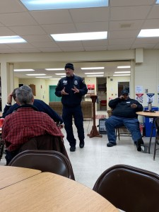 Fire inspector Robert Sayers, a tenant navigator in Minneapolis, speaks at a Ward 13 renter's rights and issues meeting.