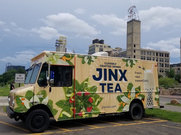 The Jinx Tea truck was frequently parked at Mill Ruins Park in downtown on weekends this summer. In May they will open a storefront location in Linden Hills. Submitted photo.