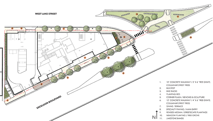 A landscape design concept for the hotel. Submitted image: Elevage Development Group