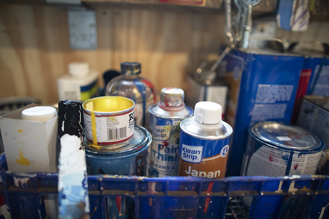 Paint jars and strip cans
