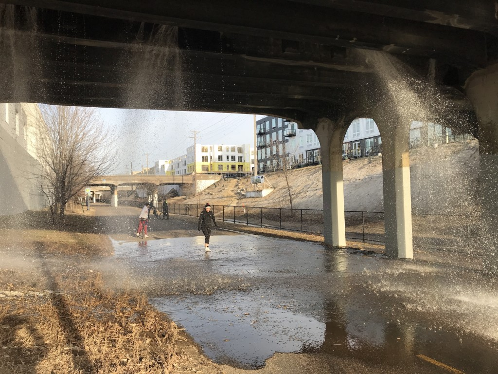 April showers on the Midtown Greenway