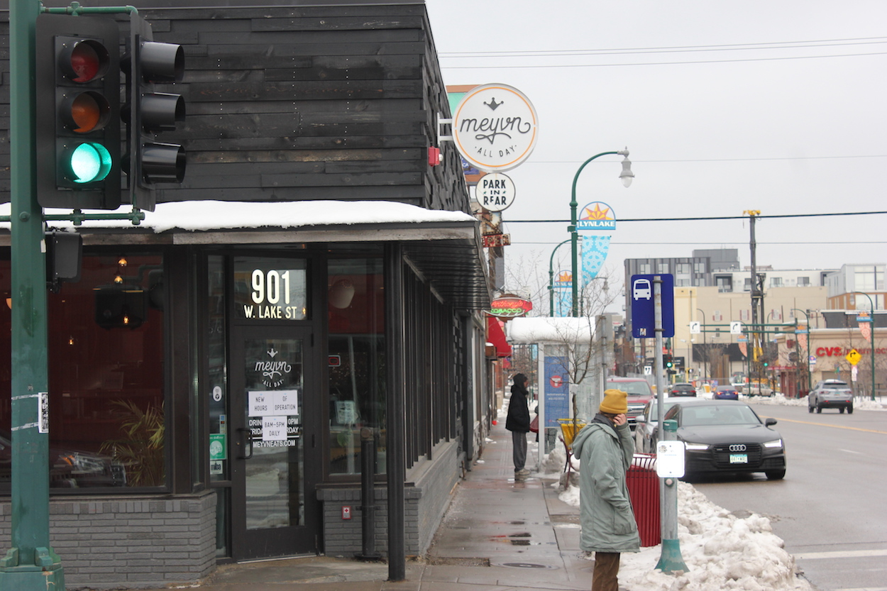 Meyvn, a bagel shop and Mediterranean cafe at 901 W. Lake St., will close April 21 after a less than a year in business. Photo by Andrew Hazzard.