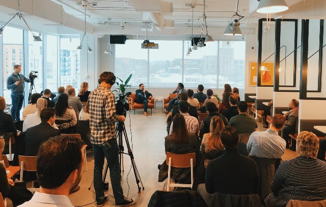 Mickeli Bedore of Bedore Business Group hosts Coffee & Closers each month at WeWork in Uptown. Submitted photo