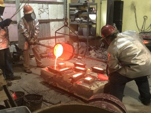 A step in the bronze casting process