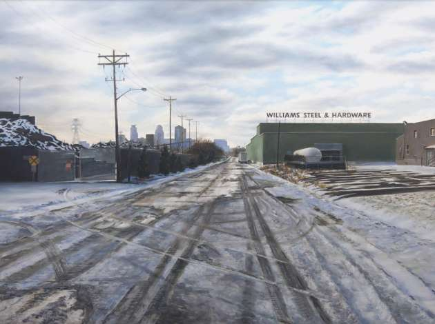 """North Pacific Street, Minneapolis, Winter,"" a painting by Michael Banning. Credit: Submitted image"
