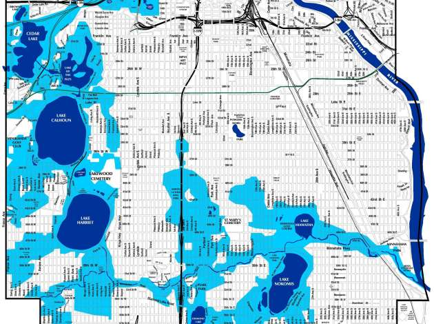 "Credit: Minneapolis map of ""potential groundwater conflict areas"""