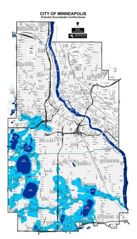 He Estimated That The Water Table In Minneapolis Ranges From 0 50 Feet,  Depending On Land Height And Distance From The Lakes And River.