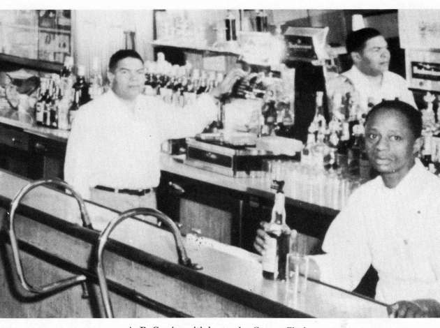 Anthony Brutus Cassius at his downtown bar, sometime in the 1950s. Thanks to the Special Collections Department of Hennepin County Library (especially librarian Bailey Diers) for providing this image. Credit: Hennepin County Library // Special Collections