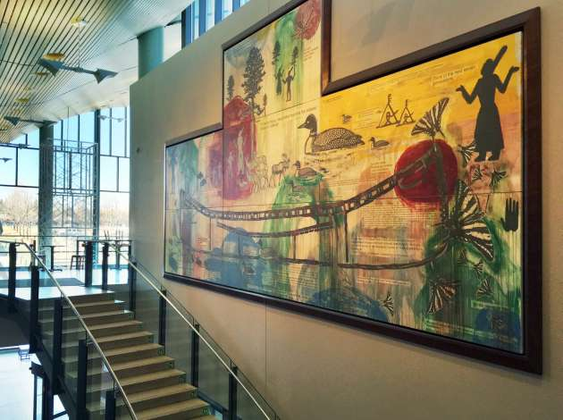 No library card needed to see this museum-worthy art full of Minnesota author quotes. Credit: Photo by Linda Koutsky
