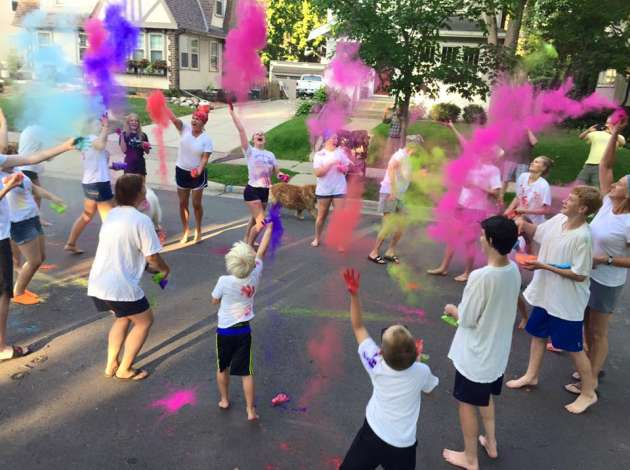 Credit: This year's annual block party on Aldrich between 50th and 51st featured a Holi festival. Submitted image