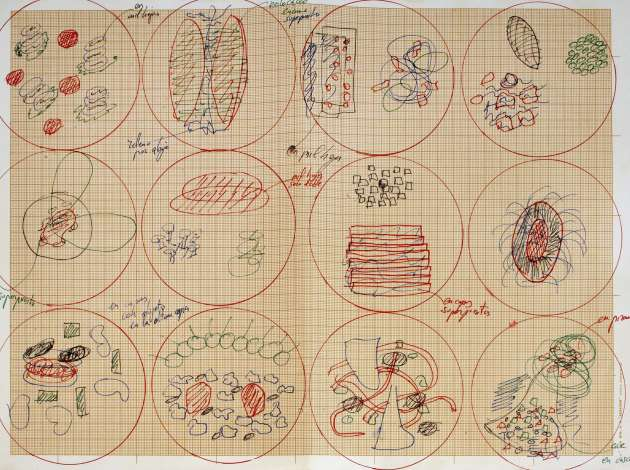 A Ferran Adrià plating diagram, circa 2000–2004. Credit: Submitted image