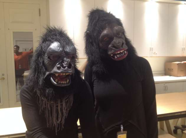 Two members of the feminist art collective Guerrilla Girls at Mia. Credit: Dylan Thomas