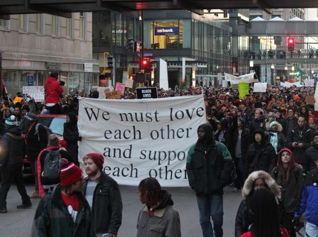 A #Justice4Jamar march in November 2015. File photo by Sarah McKenzie