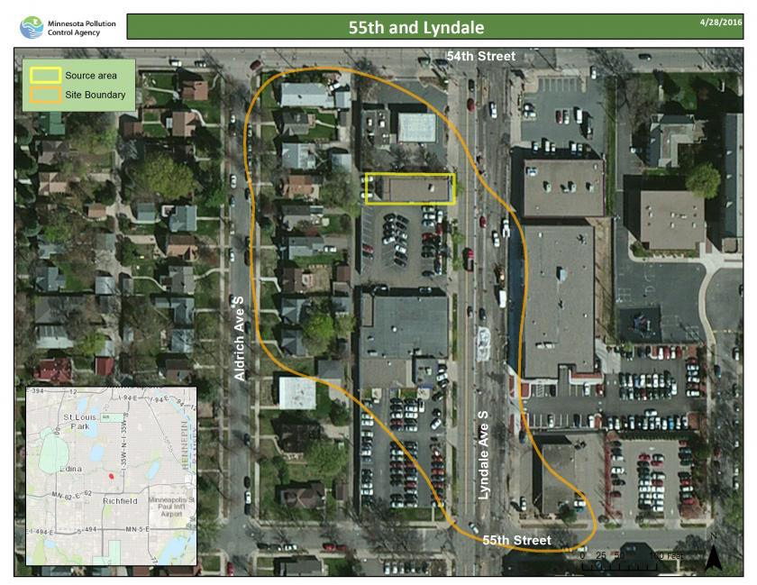 54th & Lyndale map