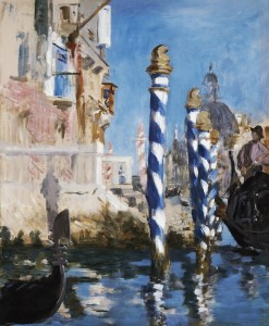 """Edouard Manet's """"View in Venice-The Grand Canal,"""" 1874."""