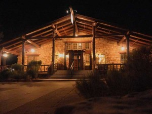 Bright Angel Lodge set the standard for National Park lodging with its rustic timber appearance. Photo by Linda Koutsky