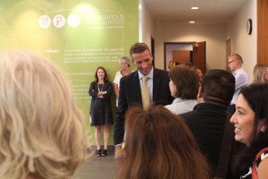 Graff spoke with community members during a July event at MPS headquarters