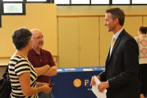 Karen Erickson, a former MPS principal, and her husband, Peter, spoke with Graff during a meet-the-superintendent event at Elliot Park in August.