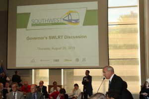 "Dayton said moving ahead with Southwest light rail was ""in the best interests of Minnesota."""