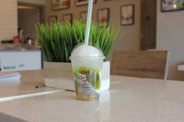 The Bambu Special at 28th & Nicollet features coconut, pandan jelly, longan, basil seed and coconut juice. Photo by Michelle Bruch