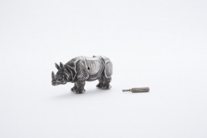 A toy fit for a Russian prince, this rhinoceros automaton was made by Faberge. Submitted image