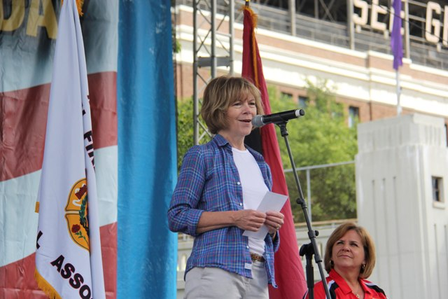 Lt. Gov. Tina Smith at the State Fair in August. Photo courtesy of the Office of Governor Mark Dayton & Lt. Governor Tina Smith