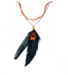 Feather bolo by J. Lux, appearing at the Walker Art Center's Jewelry Mart. Submitted image