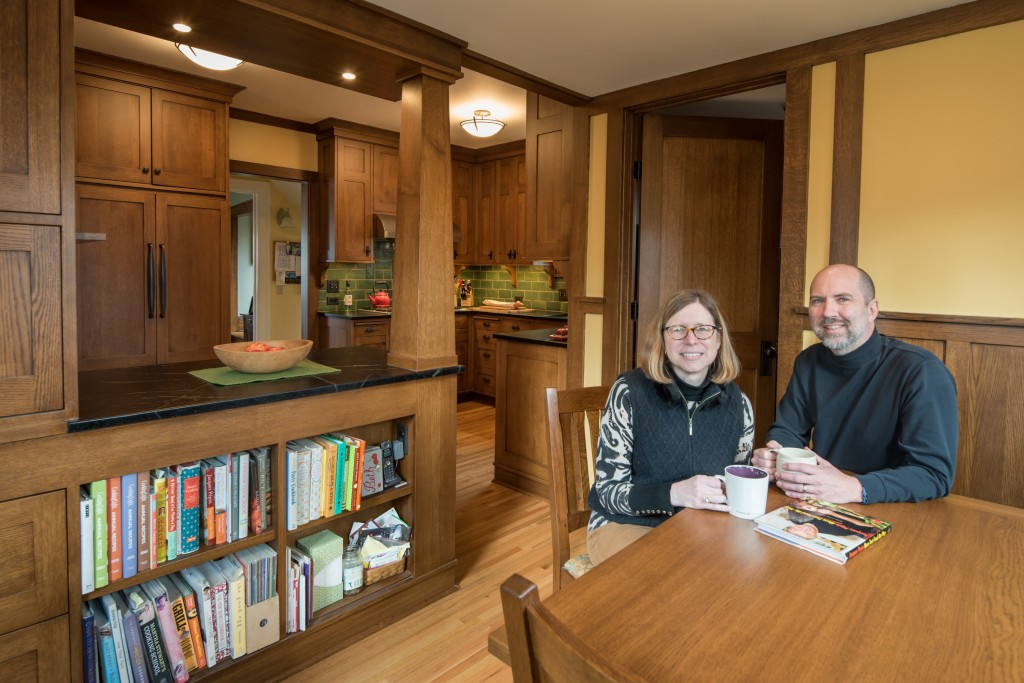 Liz Buckingham and John Owens have created a kitchen that fits both their interest in cooking and a breakfast nook in their Lynnhurst home. Submitted photo