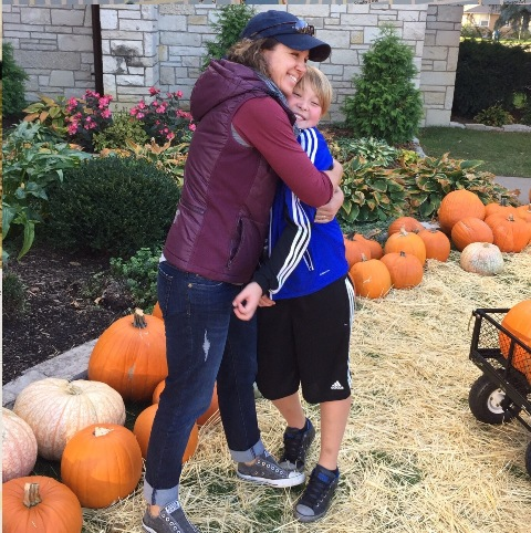 Amanda Brooks, developer of the running app FASTZach, pictured with her son Zach. Submitted photo