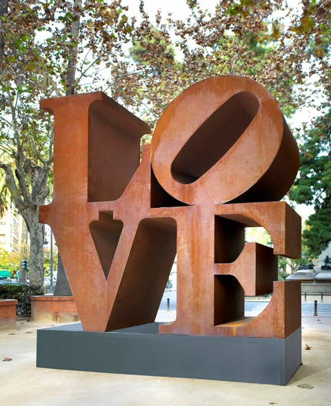 """LOVE"" by Robert Indiana, a new acquisition at the Minneapolis Sculpture Garden. Photo courtesy of Walker Art Center © Morgan Art Foundation, Artists Rights Society, New York"