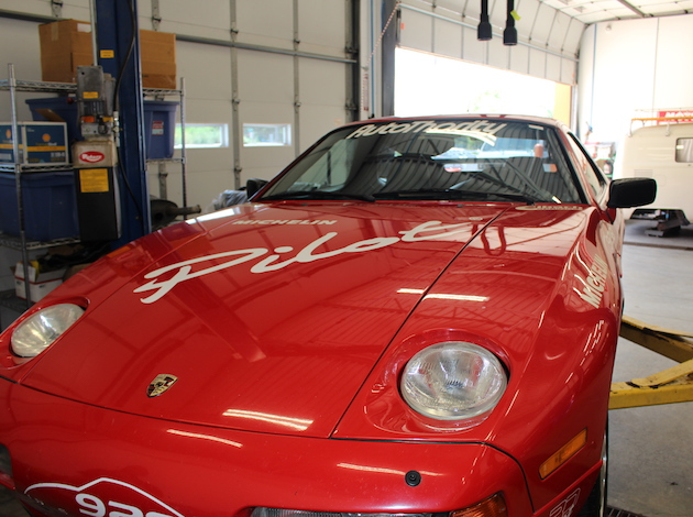 A 1989 Porsche 928 GT sat in the Further Performance Auto garage on a recent weekday. Henderson and his team were preparing the car for a show in Seattle.