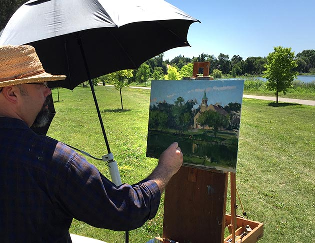 Groveland Gallery organizes the Plein Air Smackdown, an event that takes place each year in August. Submitted photo