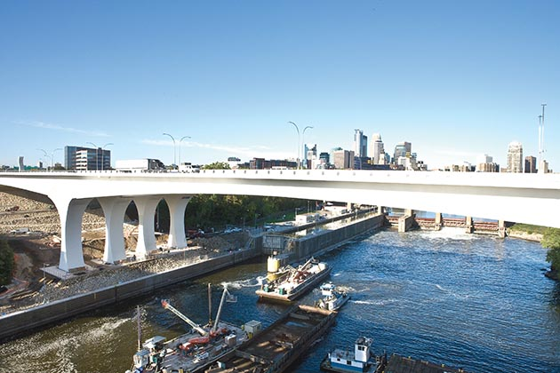 A Minnesota Department of Transportation photo of the new bridge, taken around the time it opened in 2008. File photo