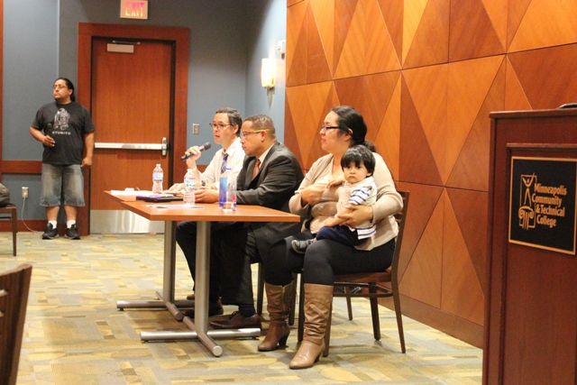 A forum to discuss immigration at Minneapolis Community and Technical College Sept. 18 featured John Keller of the Immigrant Law Center, Congressman Keith Ellison and Navigate MN Executive Director Emilia Gonzalez Avalos.