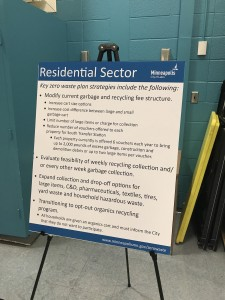 A list of key zero-waste-plan strategies was highlighted at a community-engagement session Sept. 14.