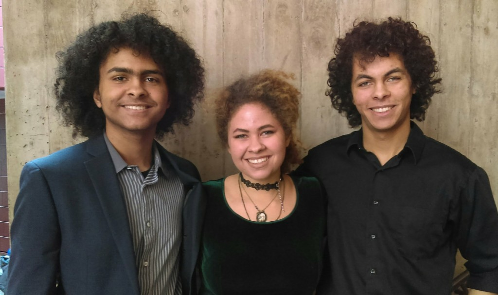 Nygel and his siblings, Imala (center) and Alastair (left). Photo courtesy Katie Daniels-Witherspoon