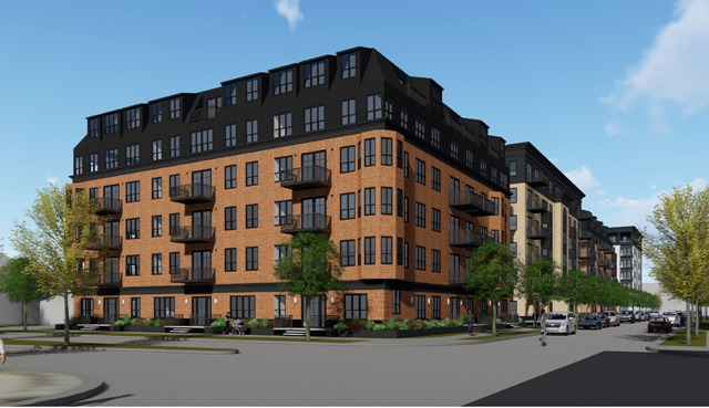A view from 31st Street of the Sons of Norway project. Rendering courtesy of Ryan Companies
