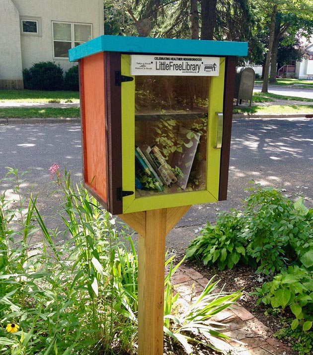 The Little Free Seed Library is open at Meleah's house. Photo by Mike Hoium