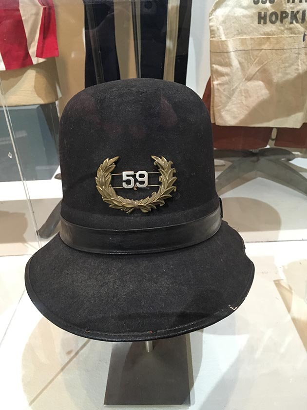 A 19th century Minneapolis police officer's cap. Photo by Dylan Thomas